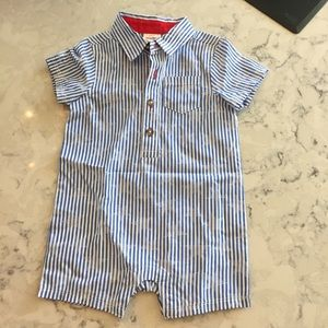 New Cat & Jack stars and striped collar one piece